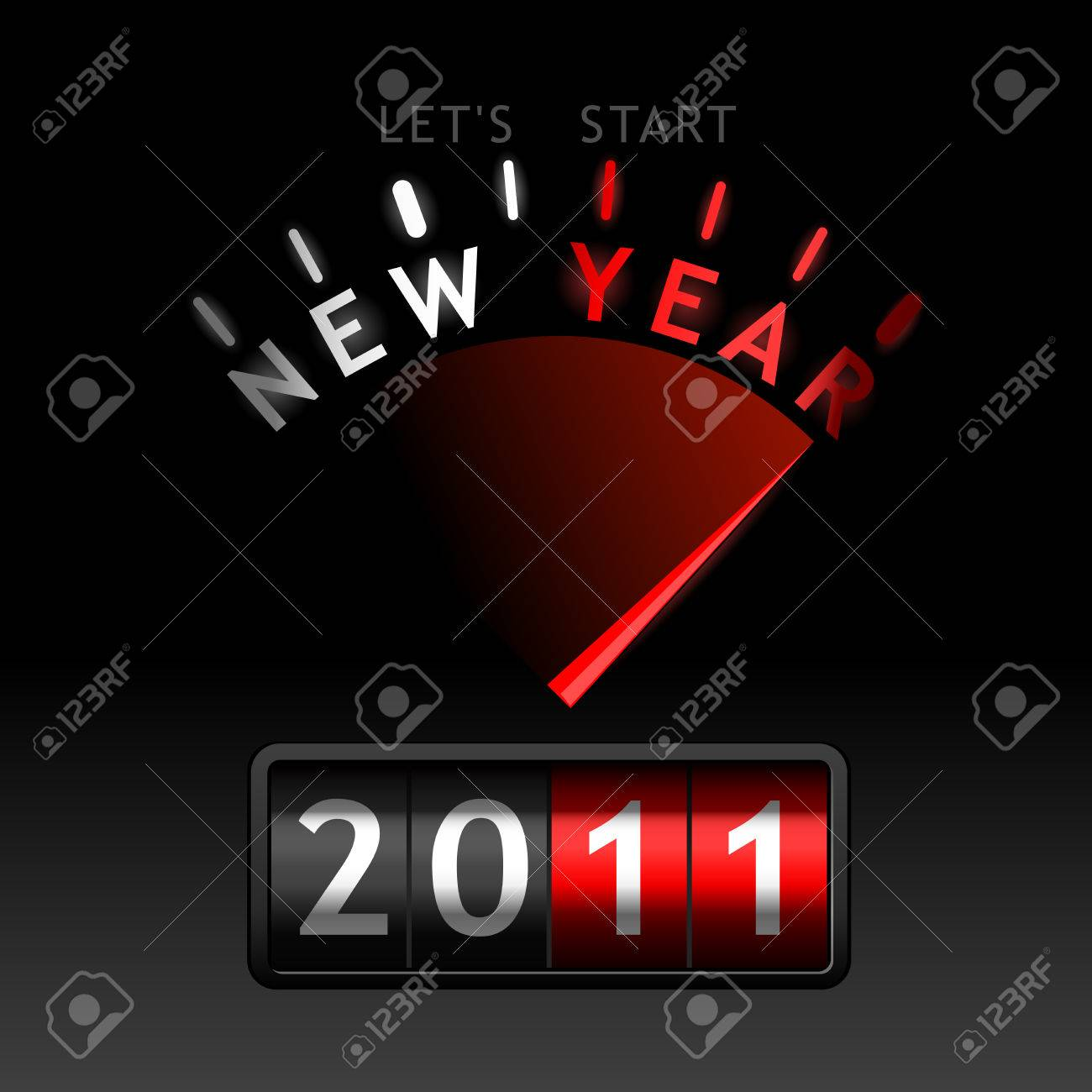 2011 counter on the dashboard Stock Vector - 8058962
