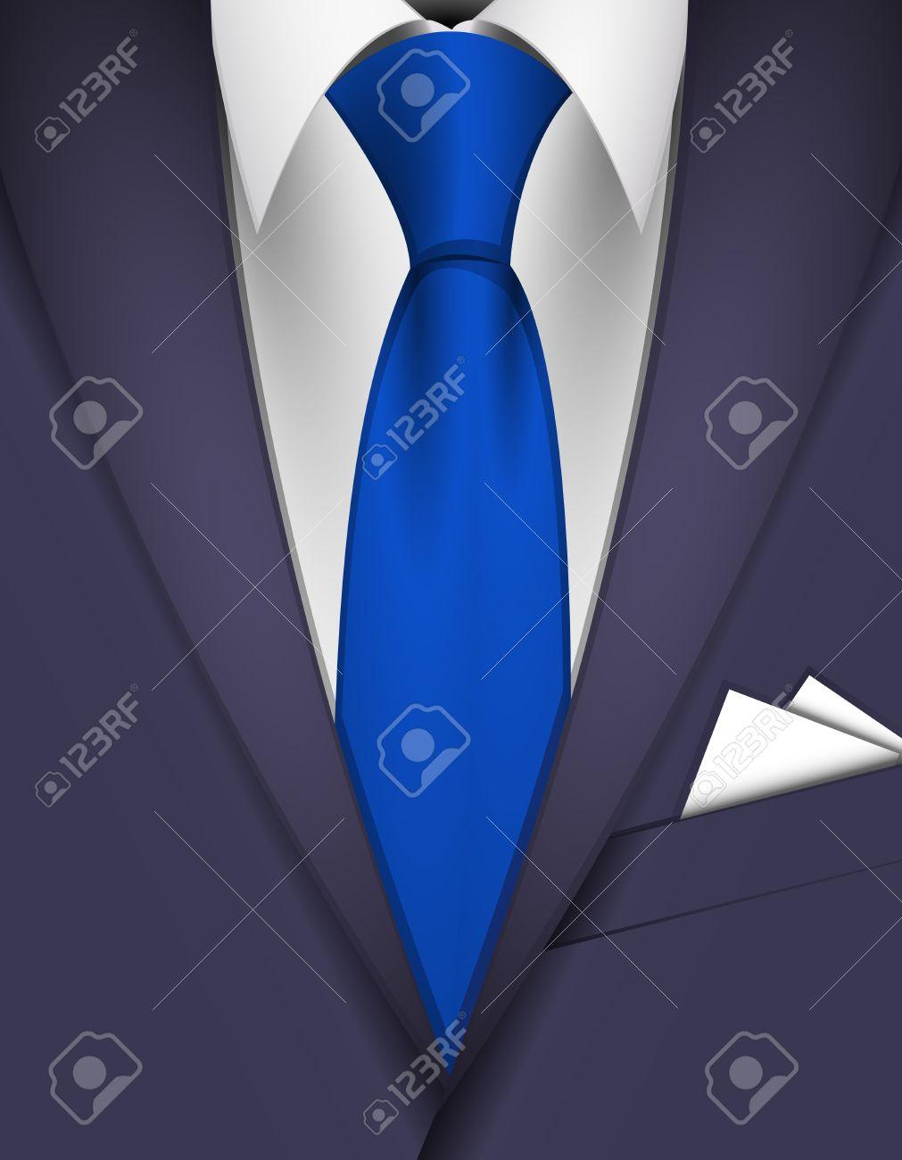 青 スーツ