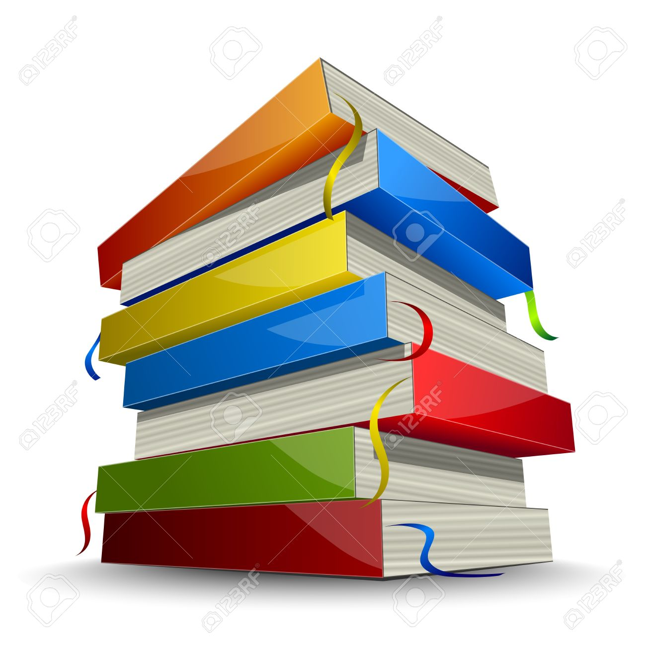 Pile Of Colored Books Royalty Free Cliparts, Vectors, And Stock ...