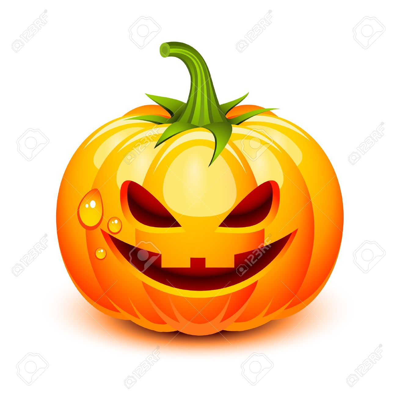 Halloween pumpkin face in a glossy style Stock Vector - 10588035