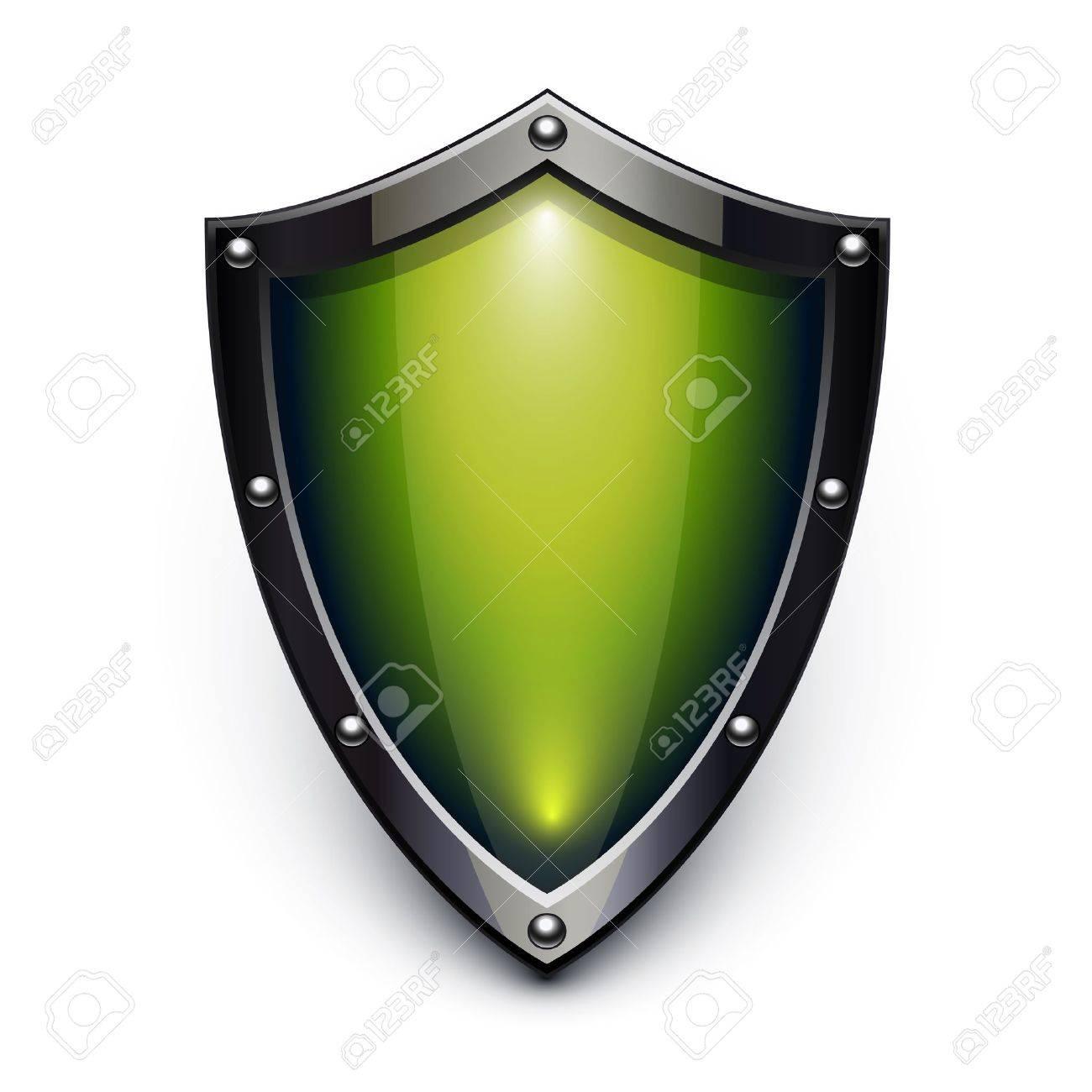 Green security shield Stock Vector - 11596133