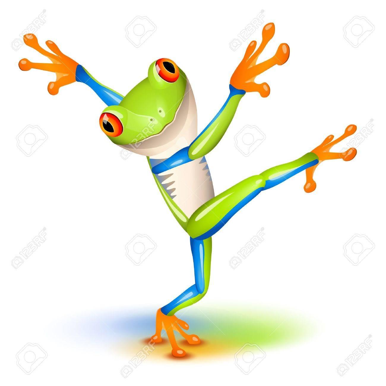 Dancing Tree Frog in equilibrium - 13283267