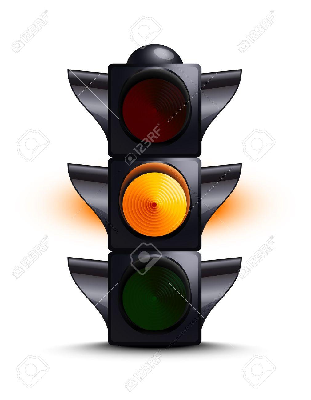 Traffic light on yellow Stock Vector - 15124787