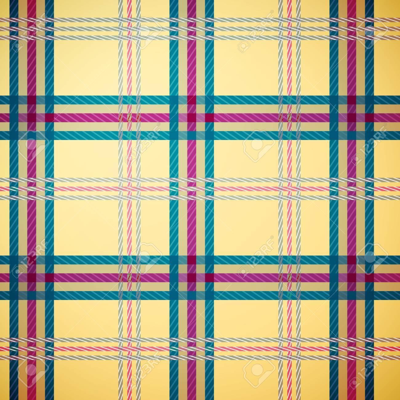 Tartan plaid pattern background (yellow, green, magenta) Stock Vector - 16855945