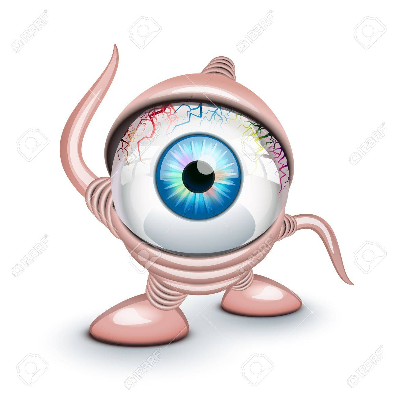 The eye of the Cyclops over white Stock Vector - 20411832