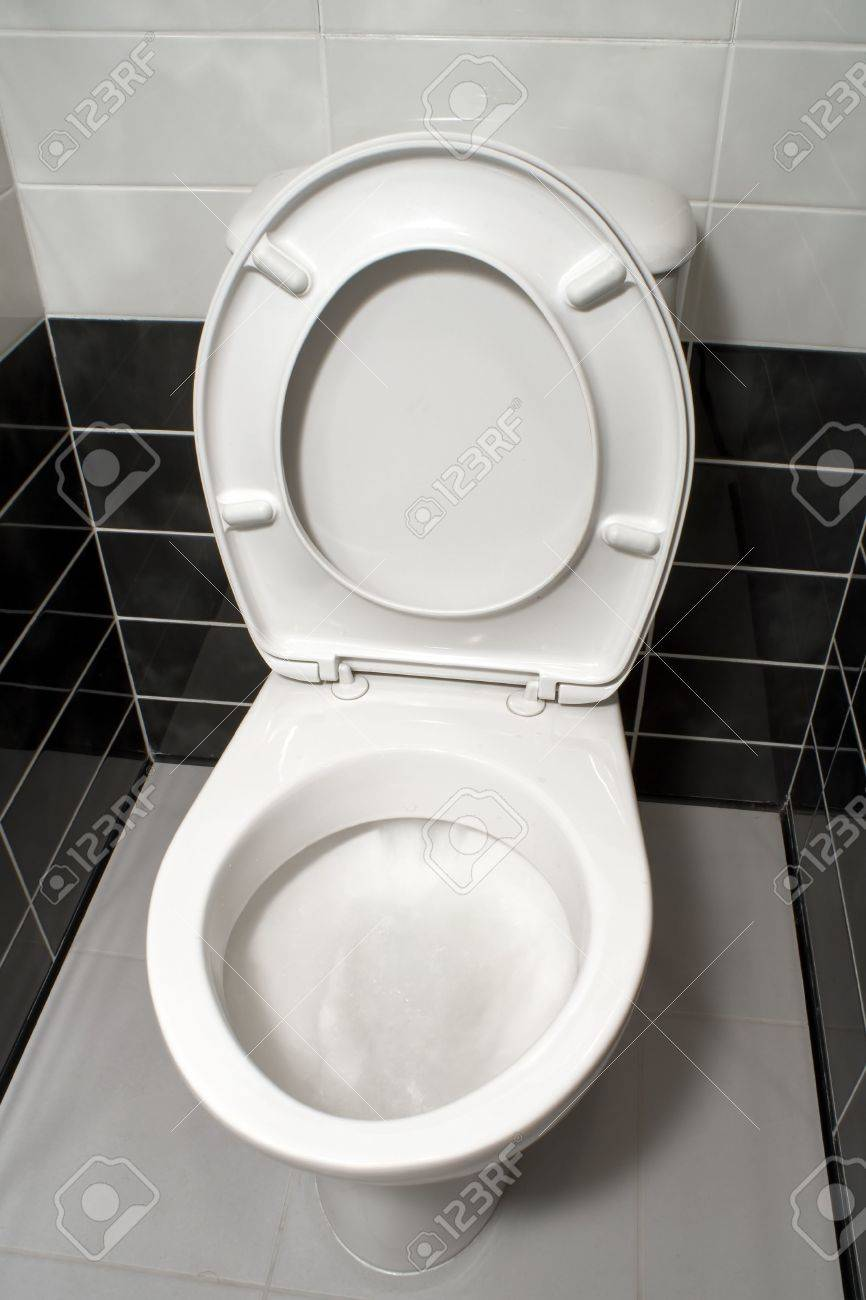 Excellent White Toilet Bowl With Open Toilet Seat Cover Beatyapartments Chair Design Images Beatyapartmentscom