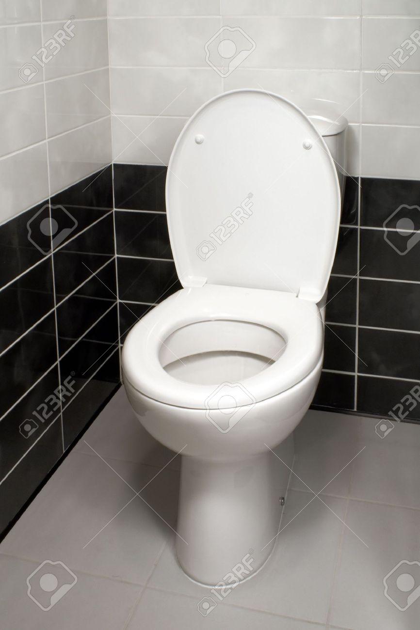 Phenomenal White Toilet Bowl With Open Toilet Seat Cover Beatyapartments Chair Design Images Beatyapartmentscom