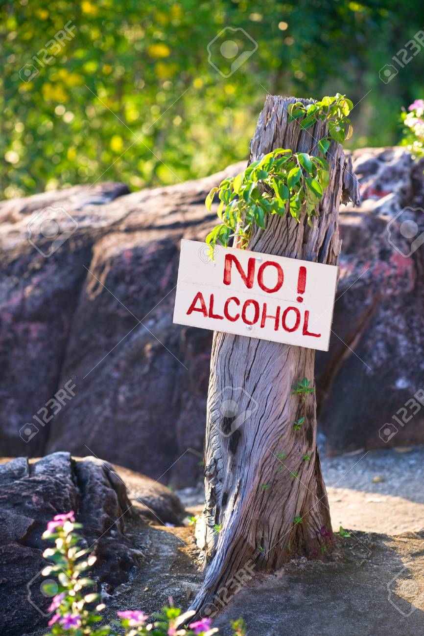 Anti-alcohol banner with the warning text Stock Photo - 9223128