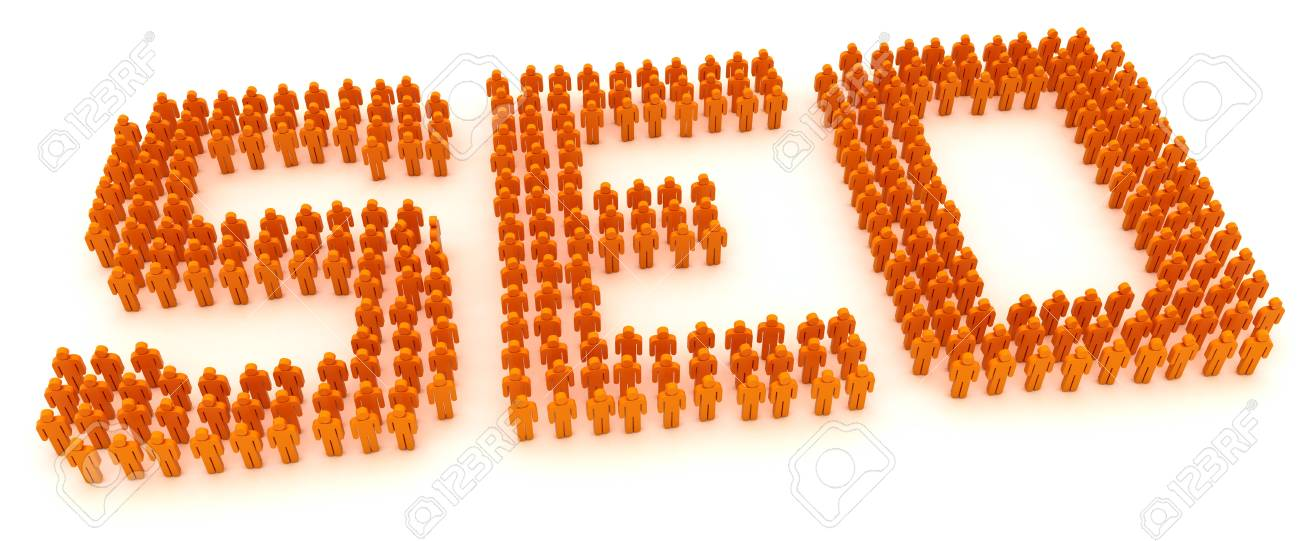 Word SEO formed by crowd of people Stock Photo - 9729467