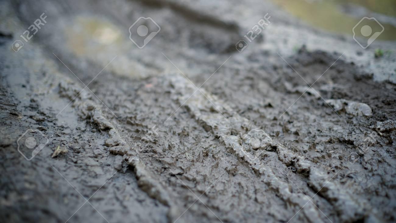 Dirty impassable road in a muddy season Stock Photo - 11144498