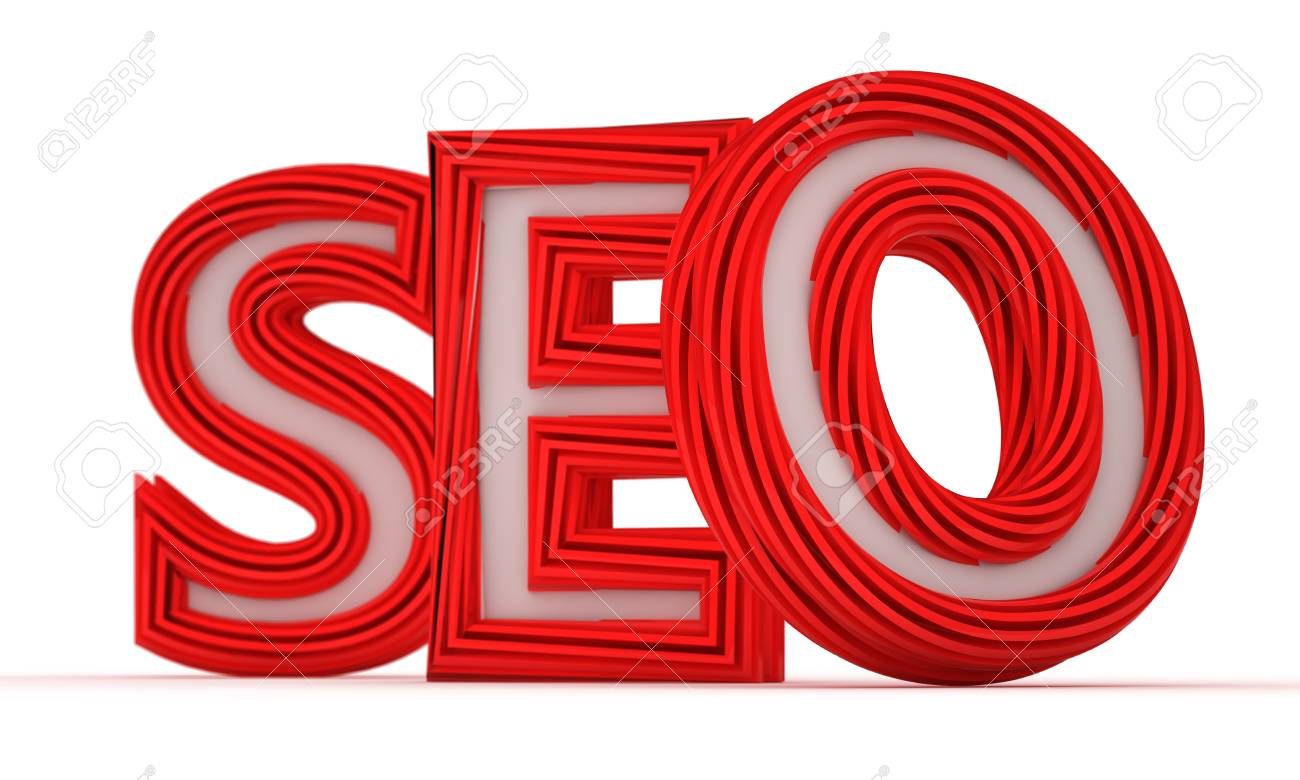Big red letters SEO isolated on the white background Stock Photo - 12858133