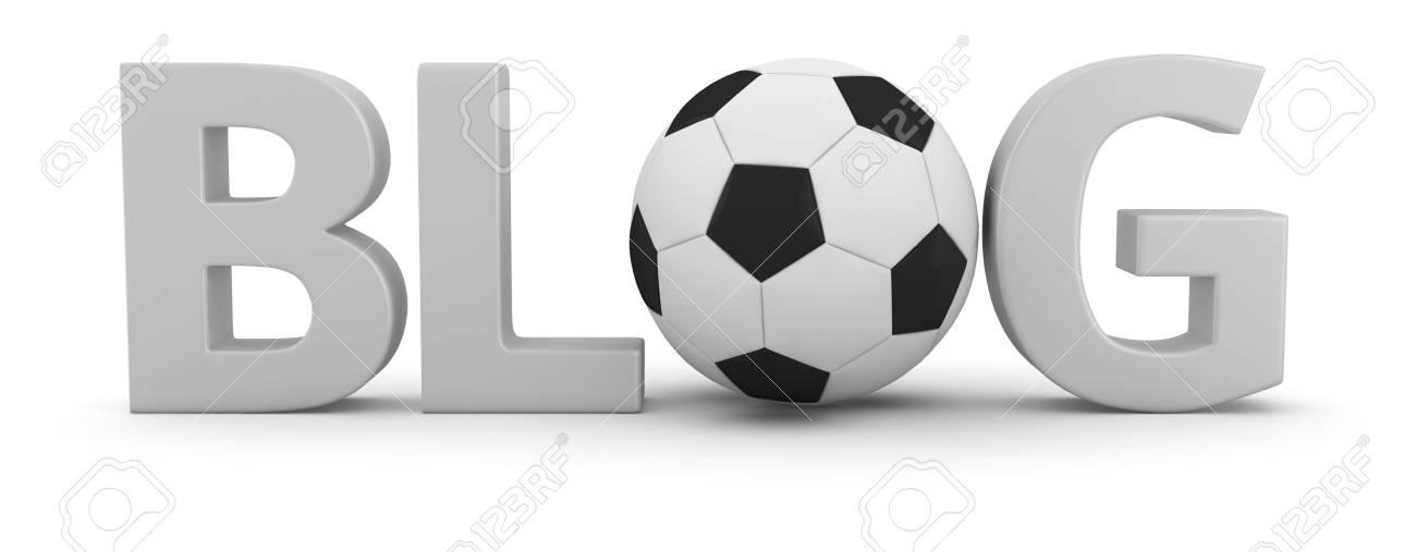 Big word BLOG with soccer ball Stock Photo - 20284832