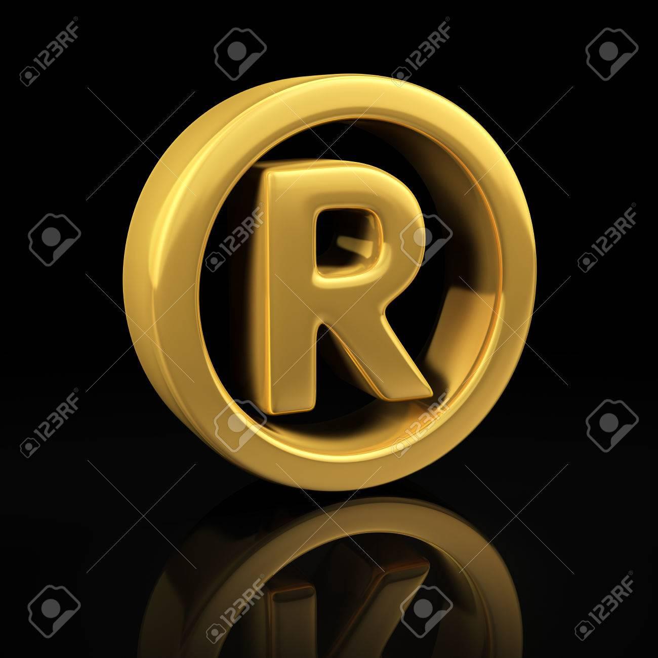 Registered trademark gold symbol on a black background with registered trademark gold symbol on a black background with reflection stock photo 26566306 biocorpaavc Gallery