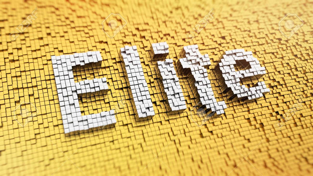 Word Elite Pixelated Word Elite Made From