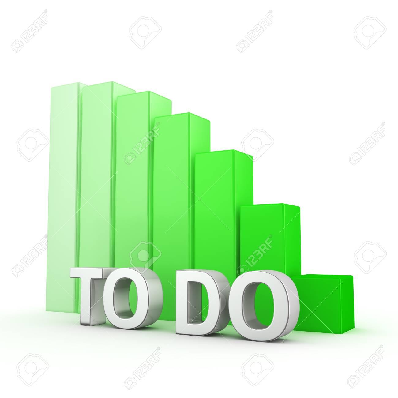 La Réduction De La Quantité De Tâches. Planification De La Liste De Tâches.  Le Mot TO-DO Contre Tomber Graphique Vert. Illustration 3D Sur Le Succès Et  ... f68a167b7eb