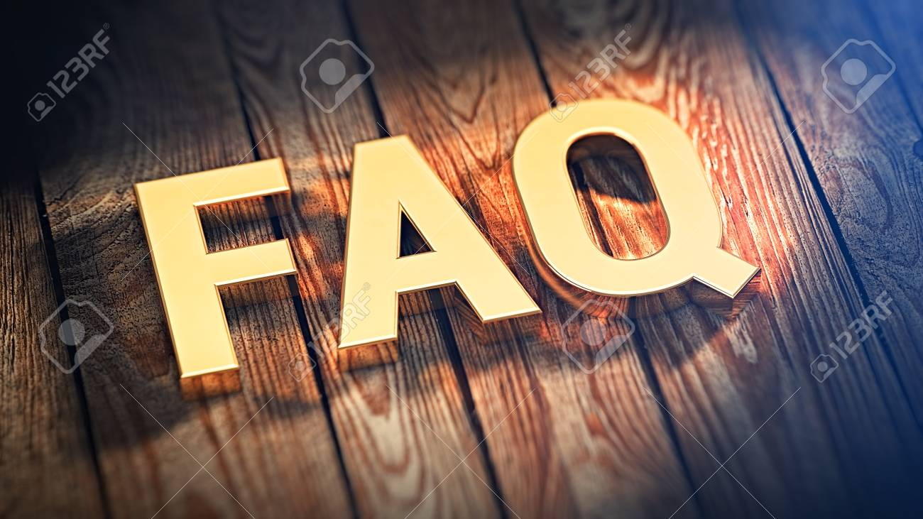 Domande frequenti concetto faq parola alfabeto su piastrelle sul