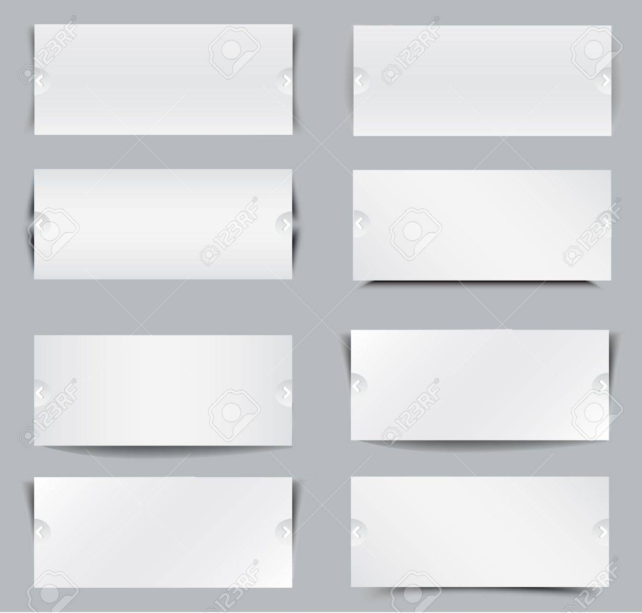 Blank Templates For Web Banner Royalty Free Cliparts Vectors And - Blank vinyl banners