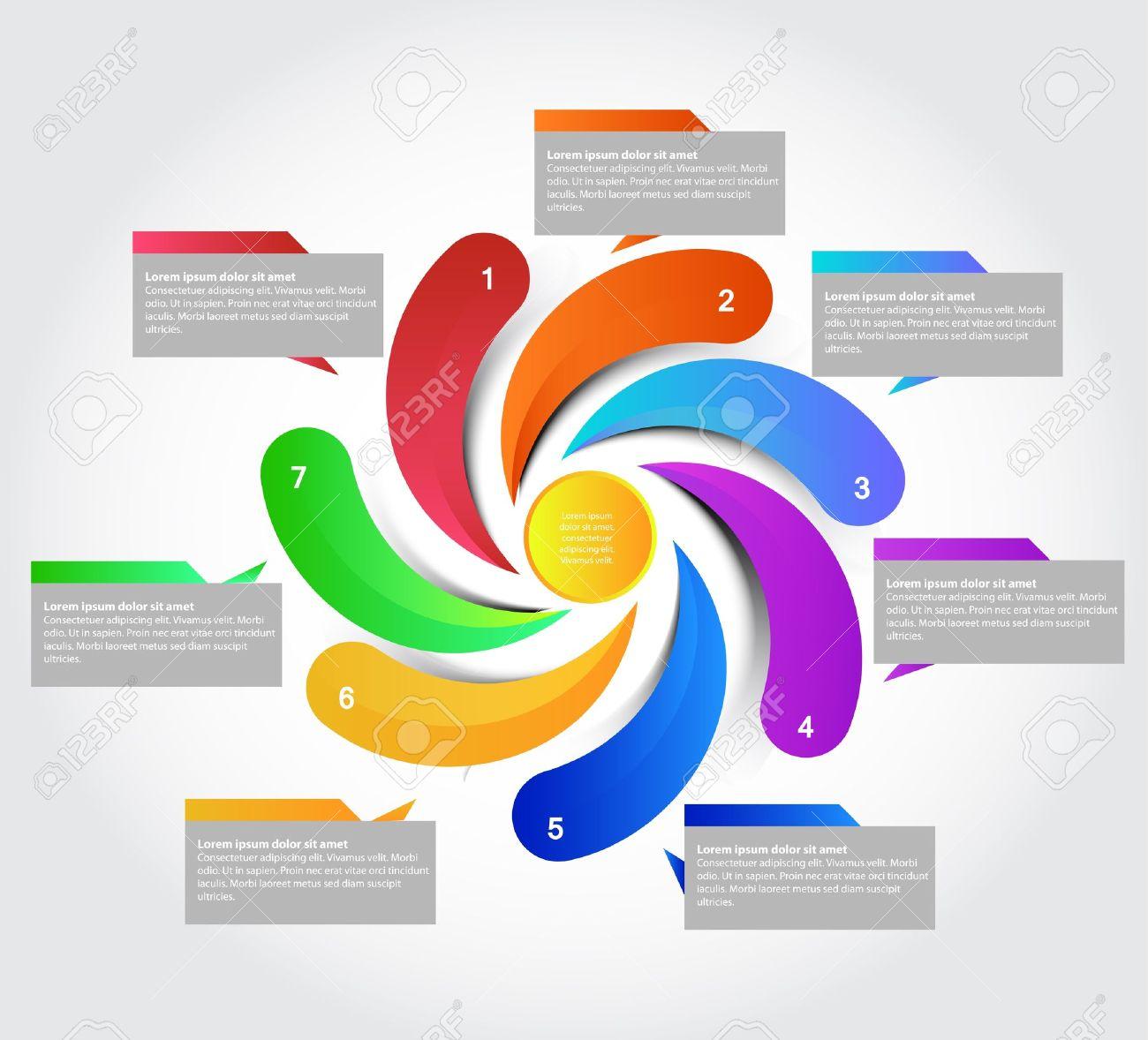 Seven parts presentation, Stock Vector - 14040731