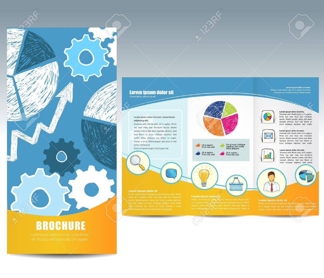 17,799 Trifold Brochure Stock Vector Illustration And Royalty Free ...