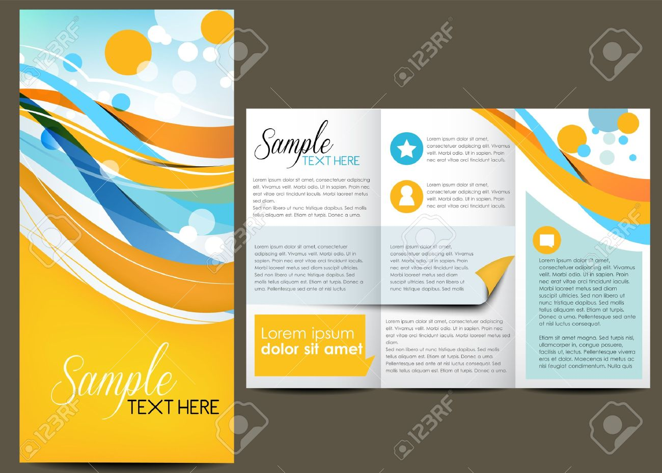 Brochure Layout Design Royalty Free Cliparts Vectors And Stock - Design brochure template