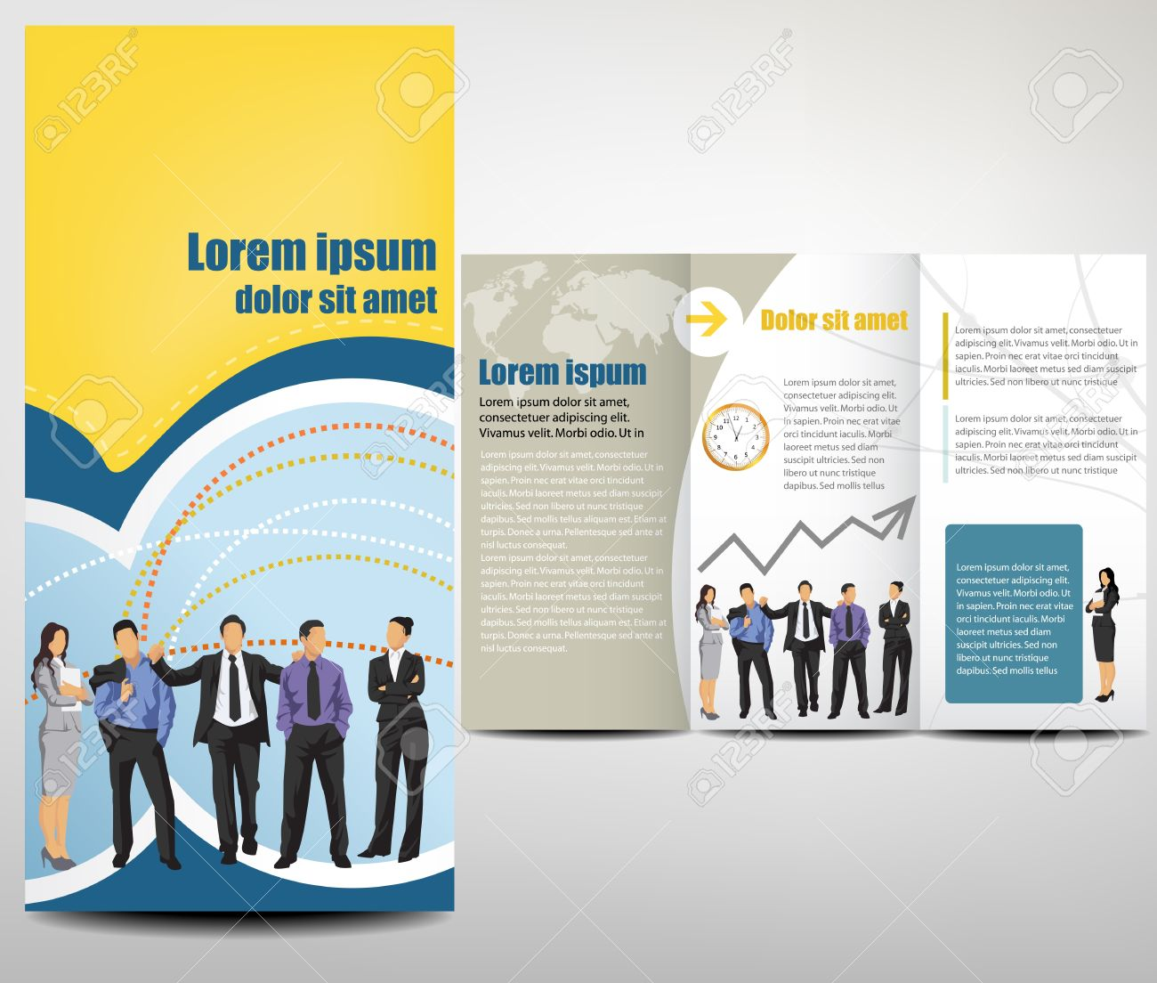 Brochure Layout Design Template Royalty Free Cliparts Vectors - Brochure layout template