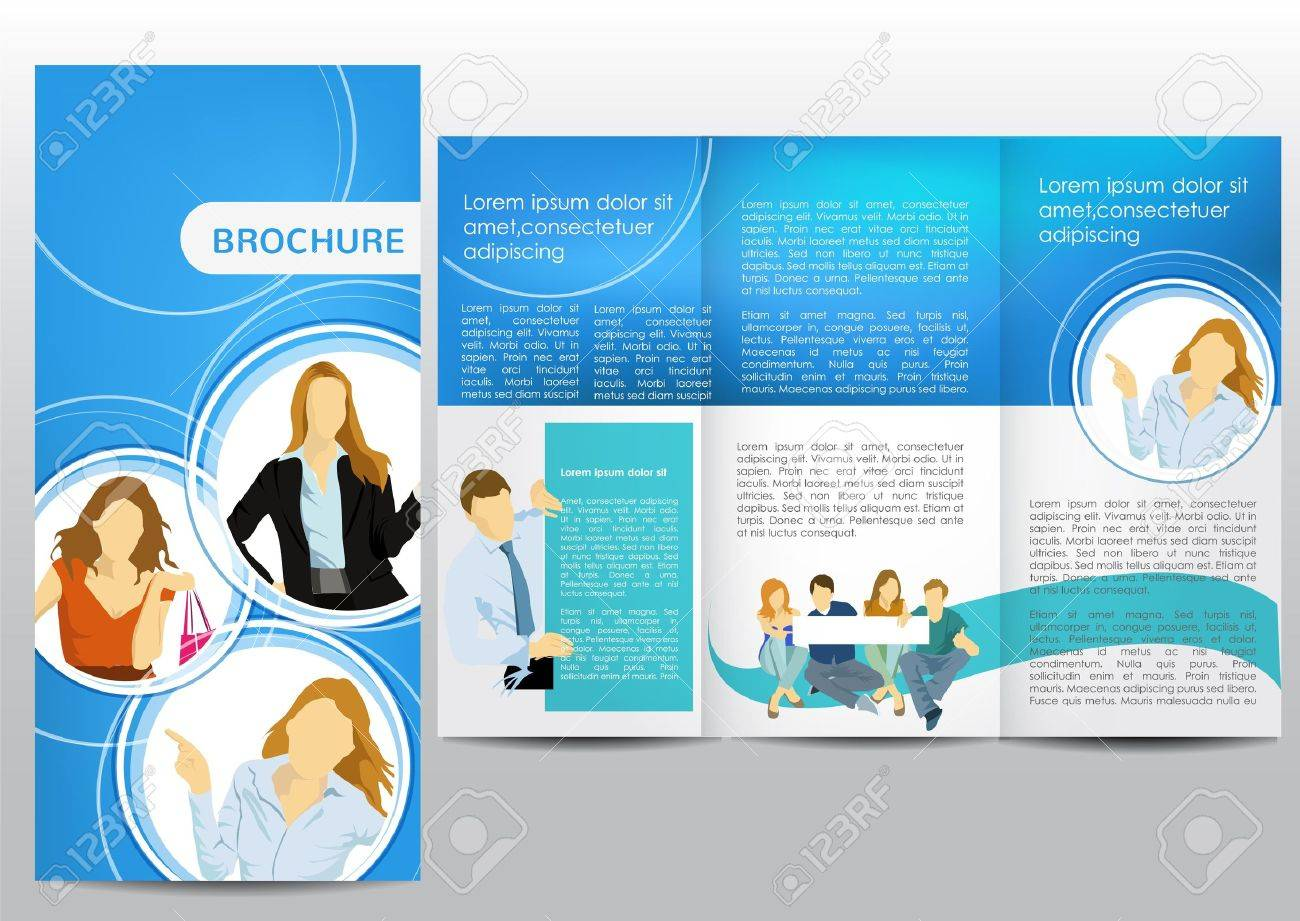 brochure with business figures stock vector 15796540
