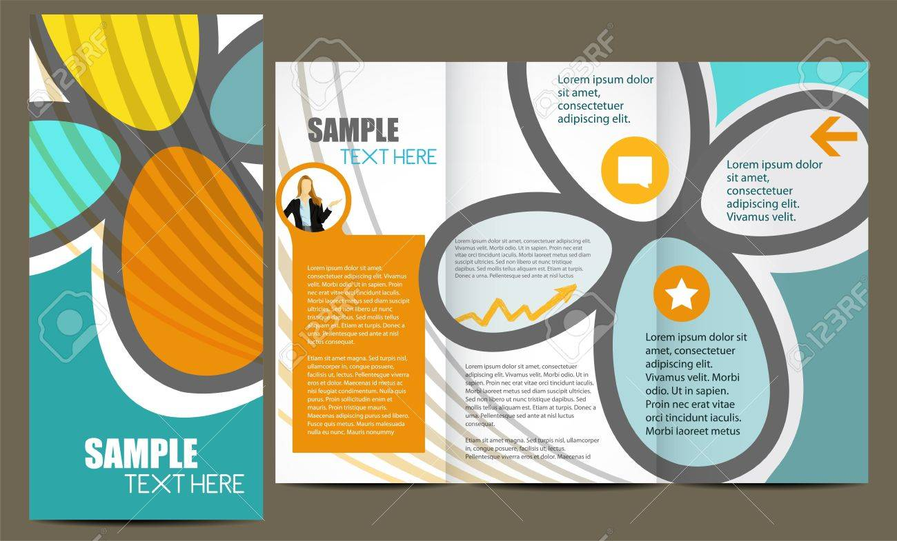 Template For Advertising Brochure Royalty Free Cliparts, Vectors ...
