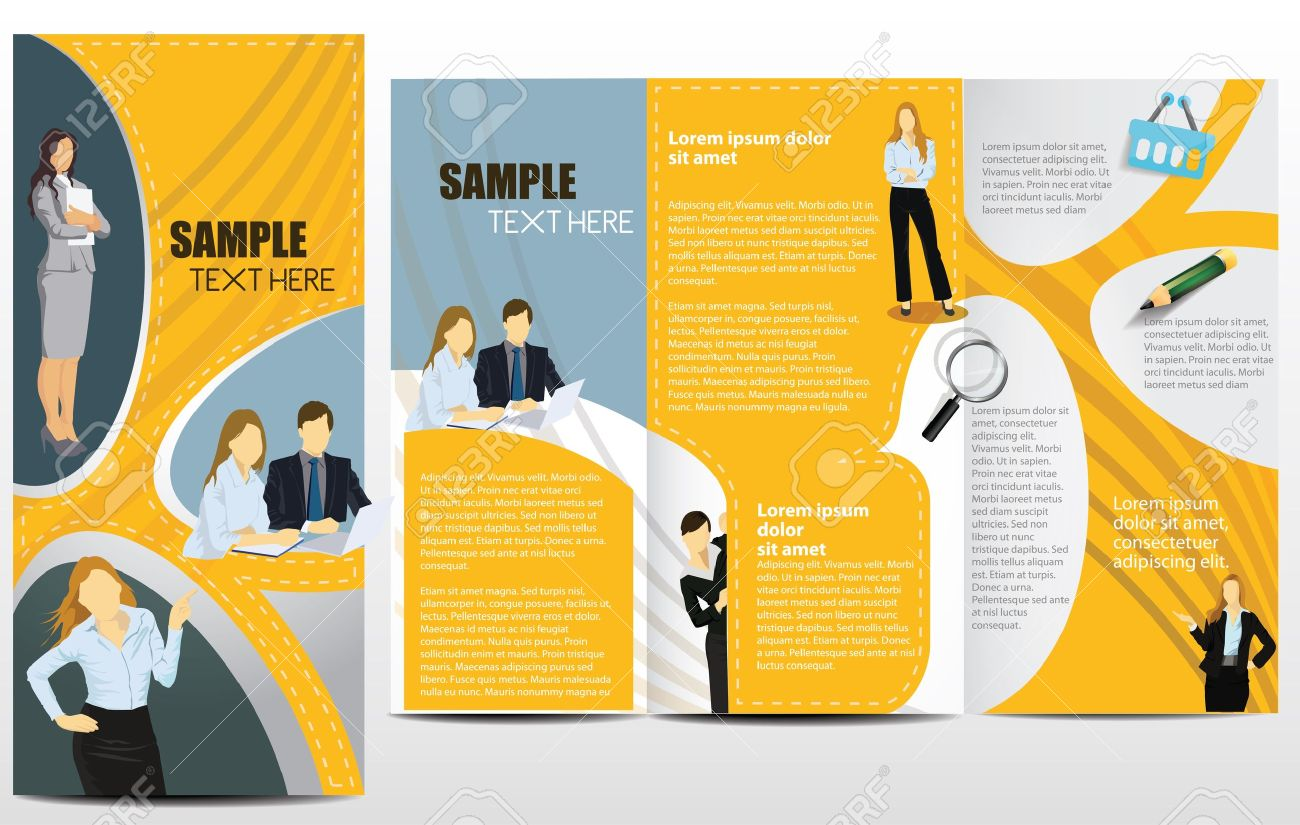 Templates For Advertising Brochure With Business People Royalty – Advertising Brochure Template