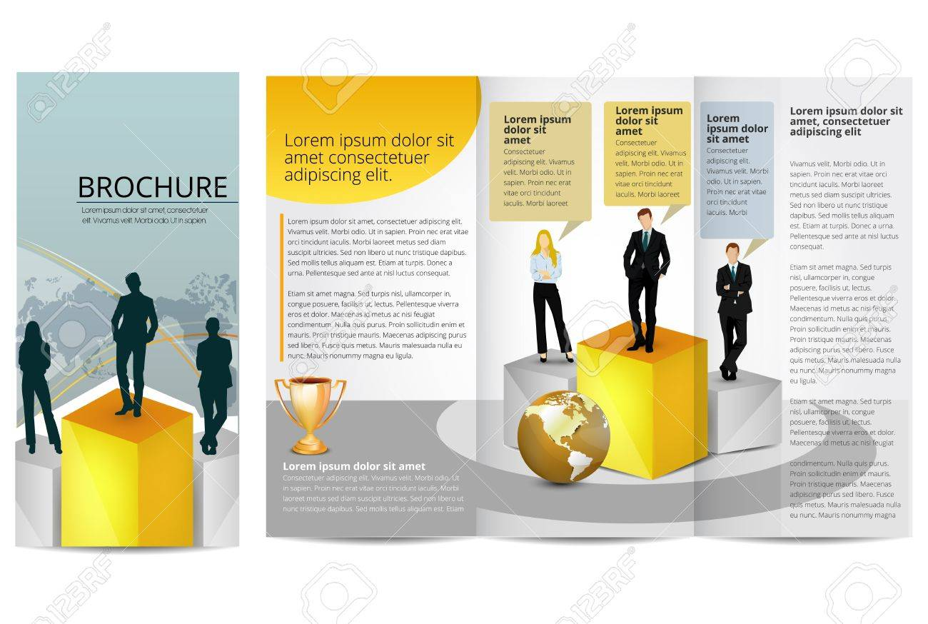 Leadership Training Progress Brochure Template Royalty Free - Training brochure template