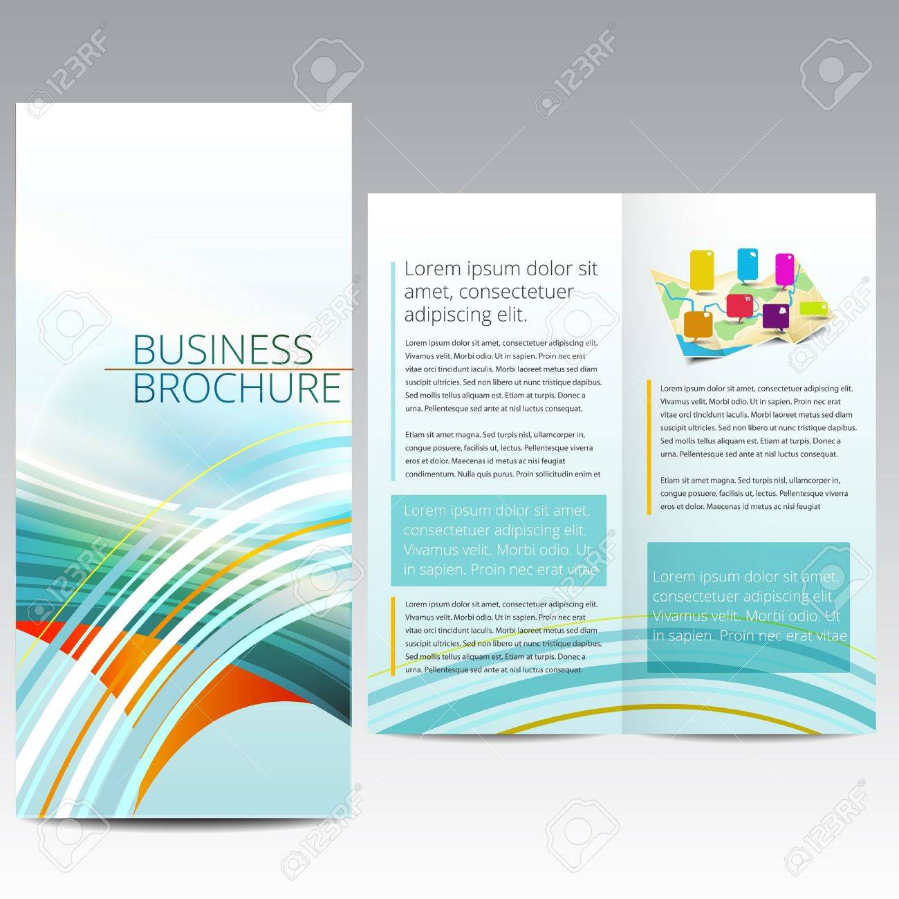Brochure design template Stock Vector - 16659749