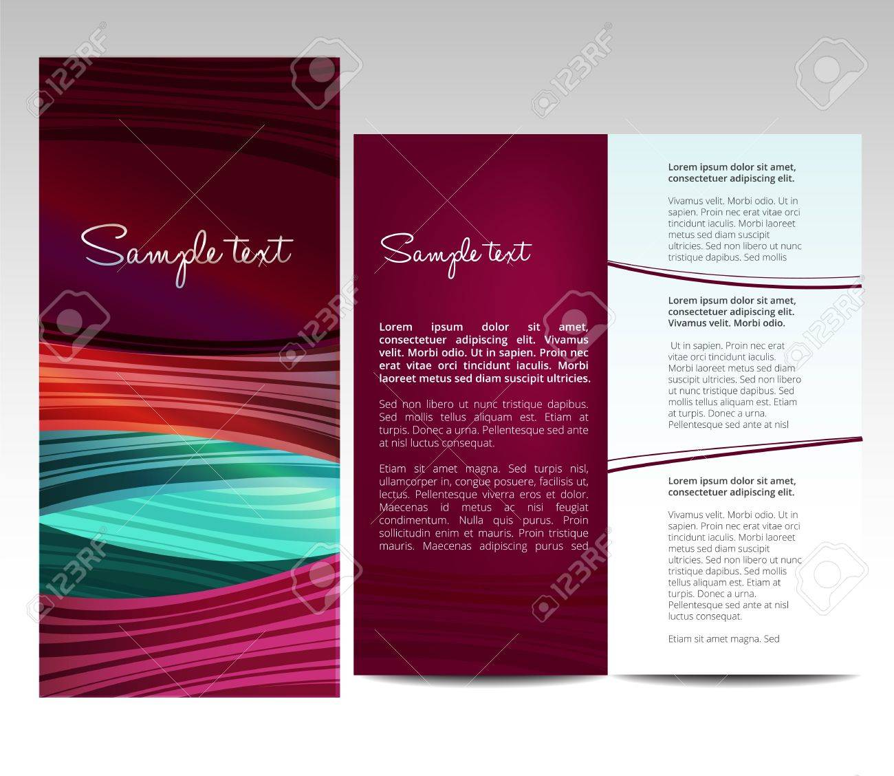 Elegant Brochure Template Royalty Free Cliparts Vectors And Stock