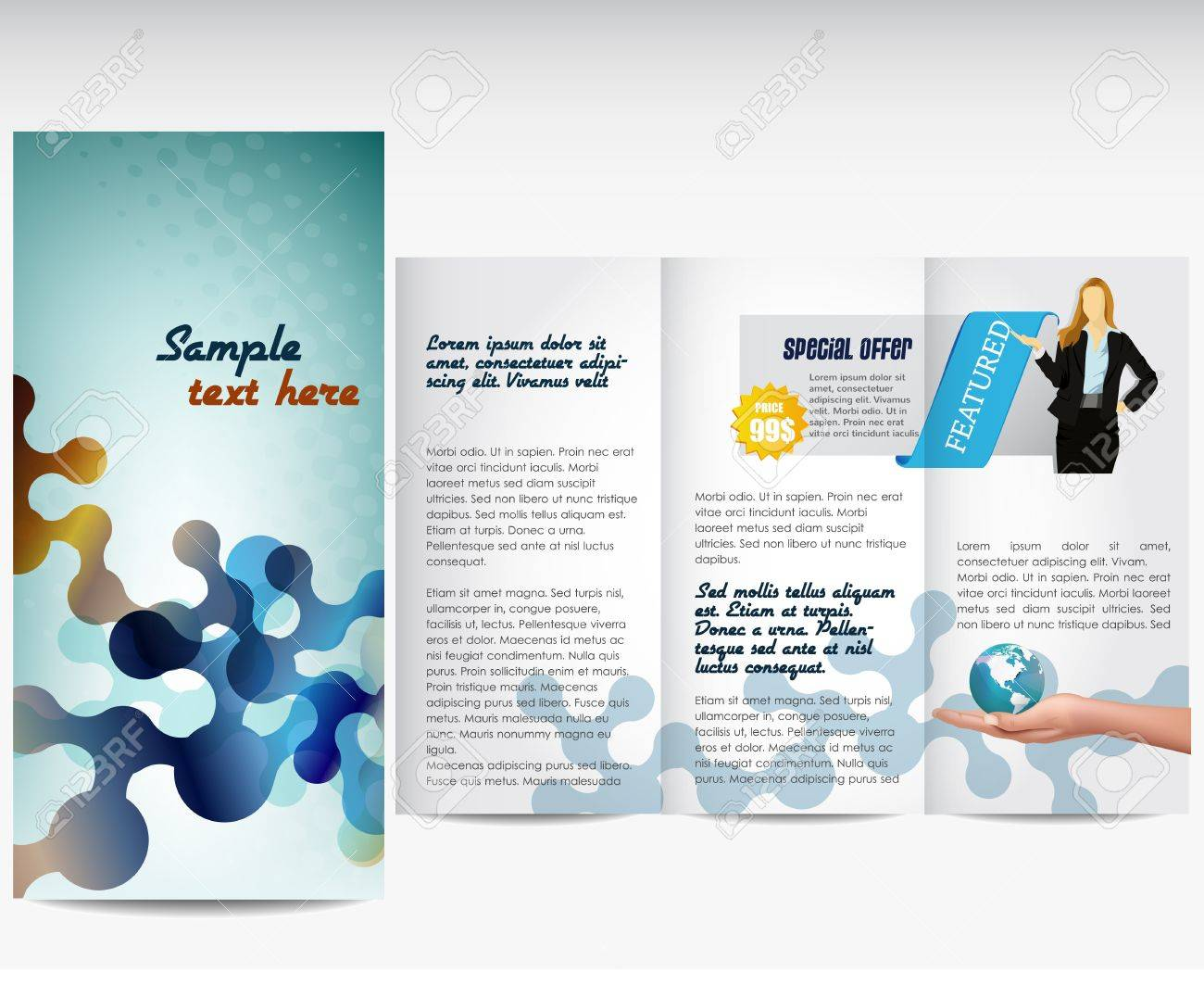 professional business template or corporate brochure royalty professional business template or corporate brochure stock vector 17356975