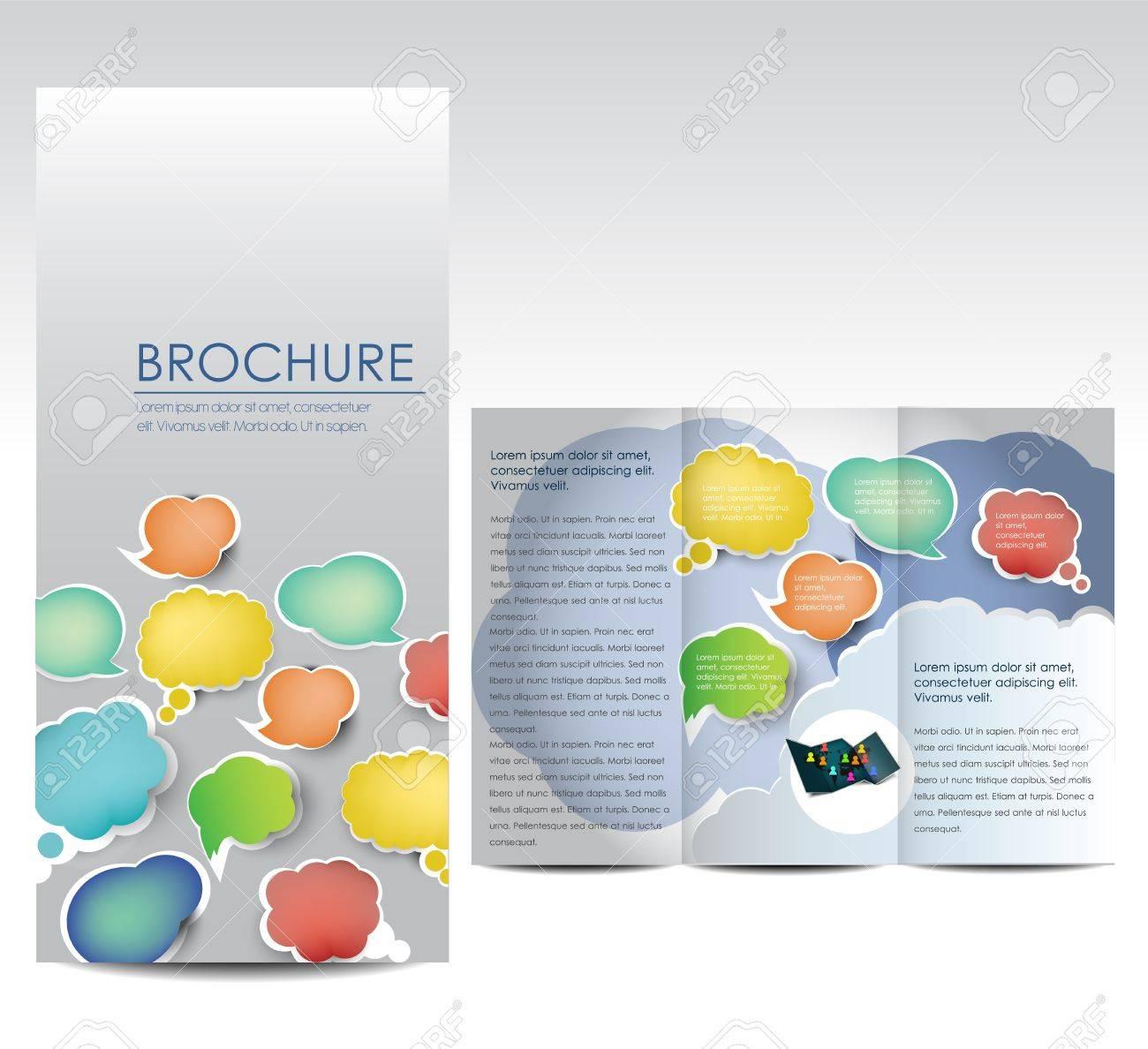 Brochure with speech bubbles Stock Vector - 17356959