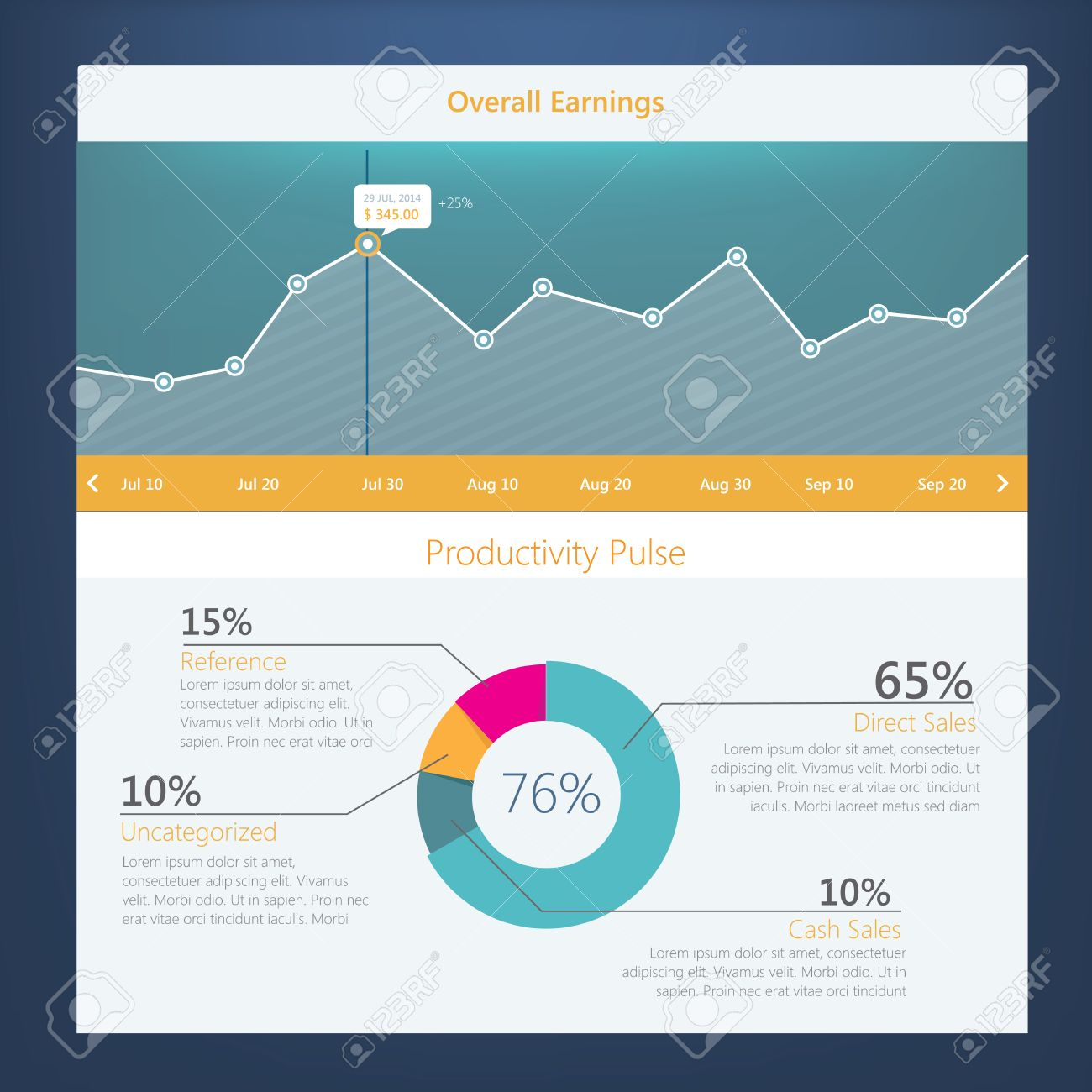 Modern UI Flat Design Activity Diagram With Timeline For Website – Timeline Website Template