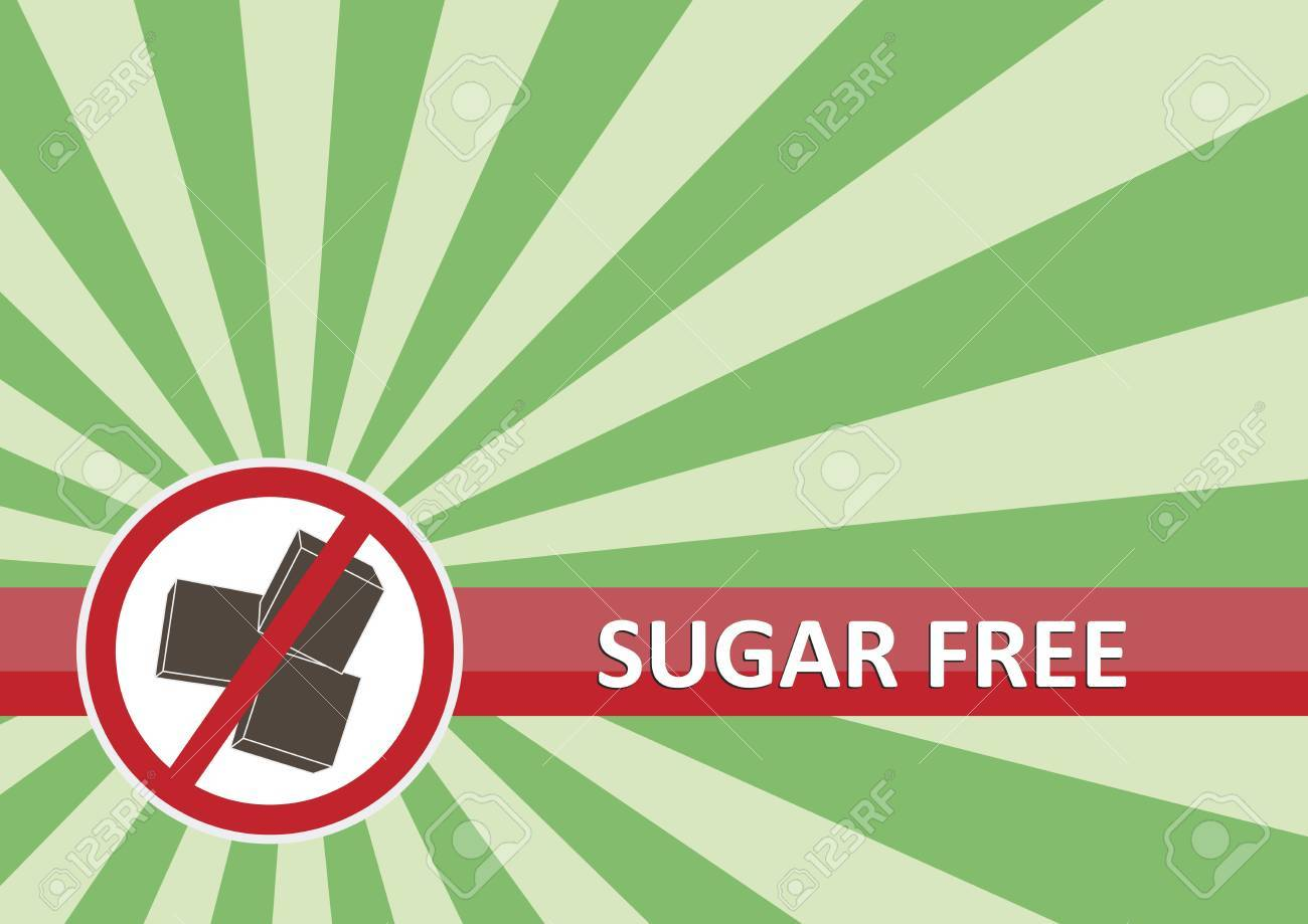 Sugar free banner for food allergy concept Stock Vector - 16261381