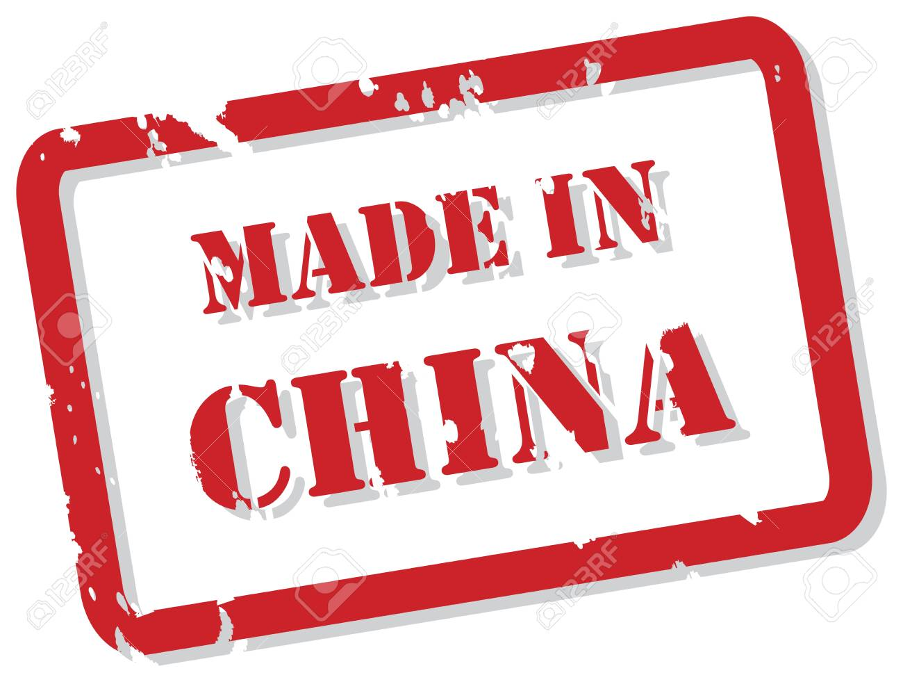 Red rubber stamp of Made In China Stock Vector - 17034443