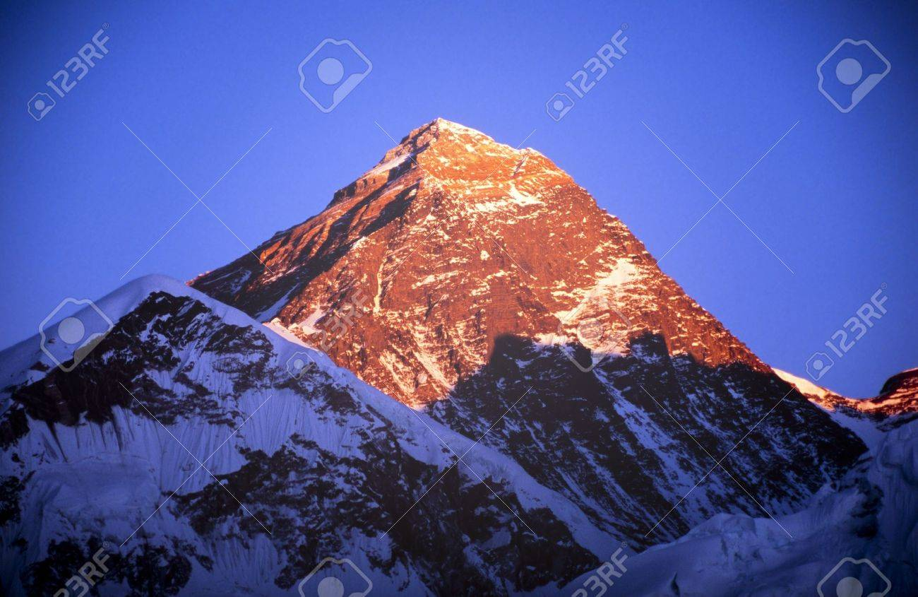 Mount everest with clear blue sky in the nepal himalaya mountain mount everest with clear blue sky in the nepal himalaya mountain range stock photo 18871881 sciox Gallery