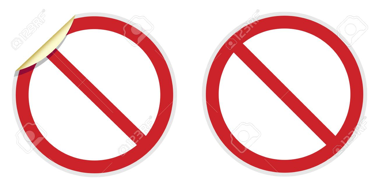 No signs in two vector styles depicting banned activities Stock Vector - 19957871