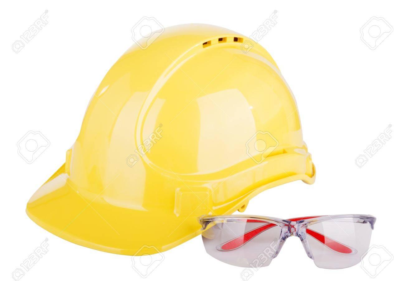Banque d images - Quipement de protection individuelle ou EPI - équipements  de protection individuelle - avec un casque et des lunettes de sécurité  isolé ... e7fda990740f