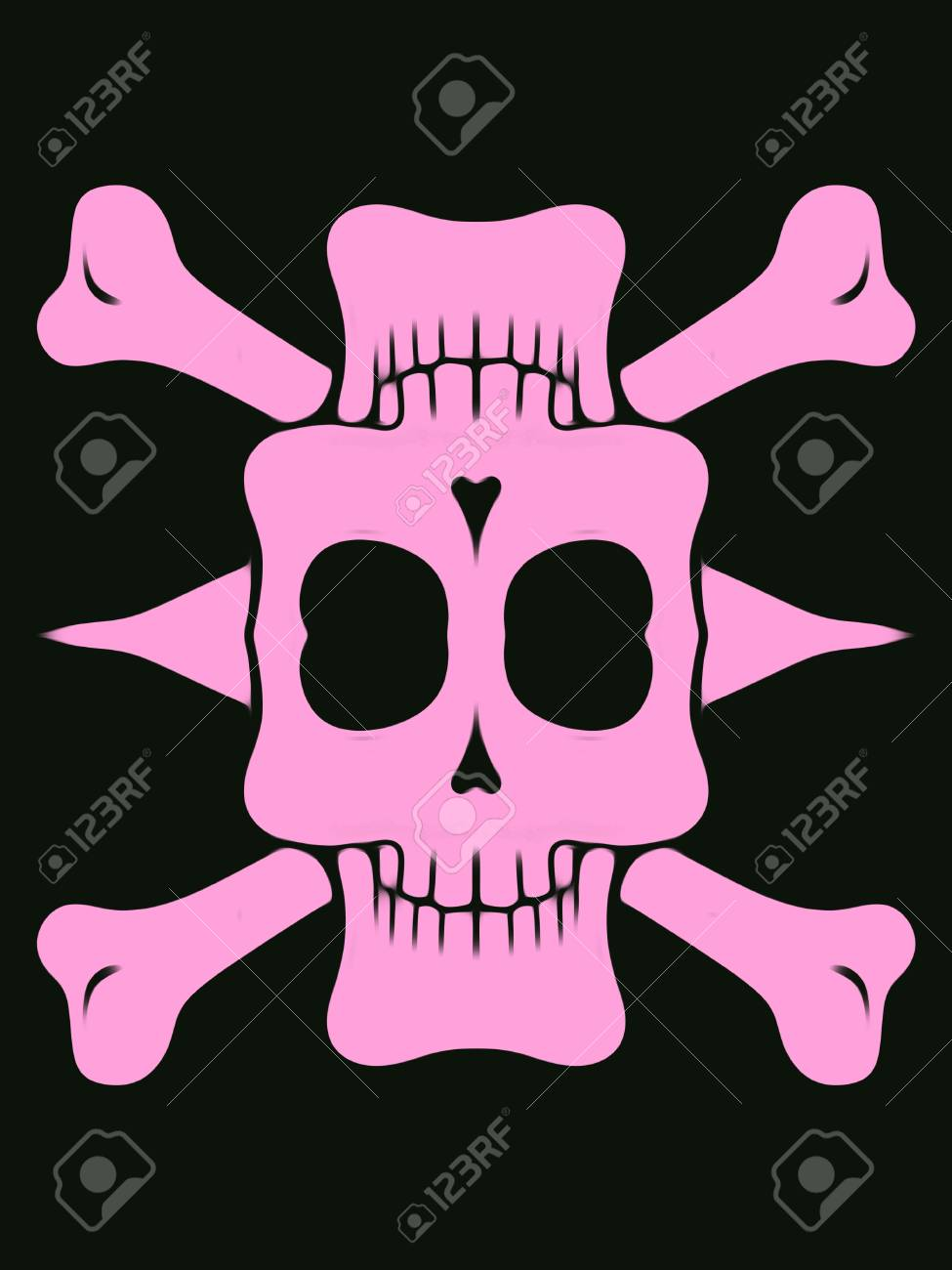 pink skull background