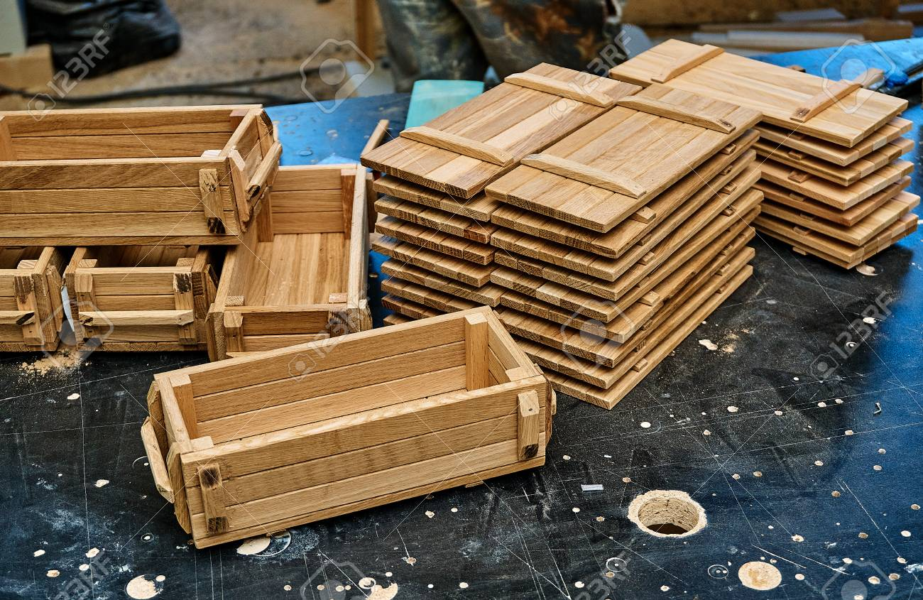 Wooden Crates For Small Things In Military Style Stock Photo Picture And Royalty Free Image Image 102945904