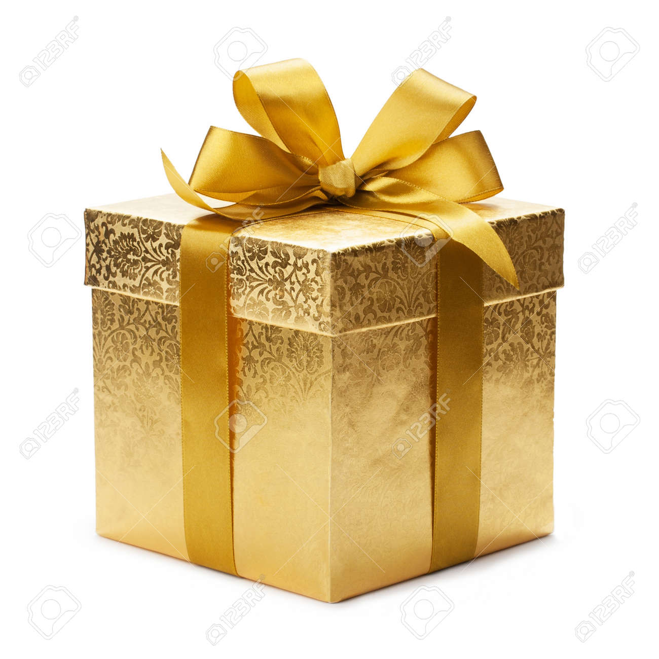Gift box and gold ribbon isolated on white background stock photo gift box and gold ribbon isolated on white background stock photo 20451784 negle Choice Image