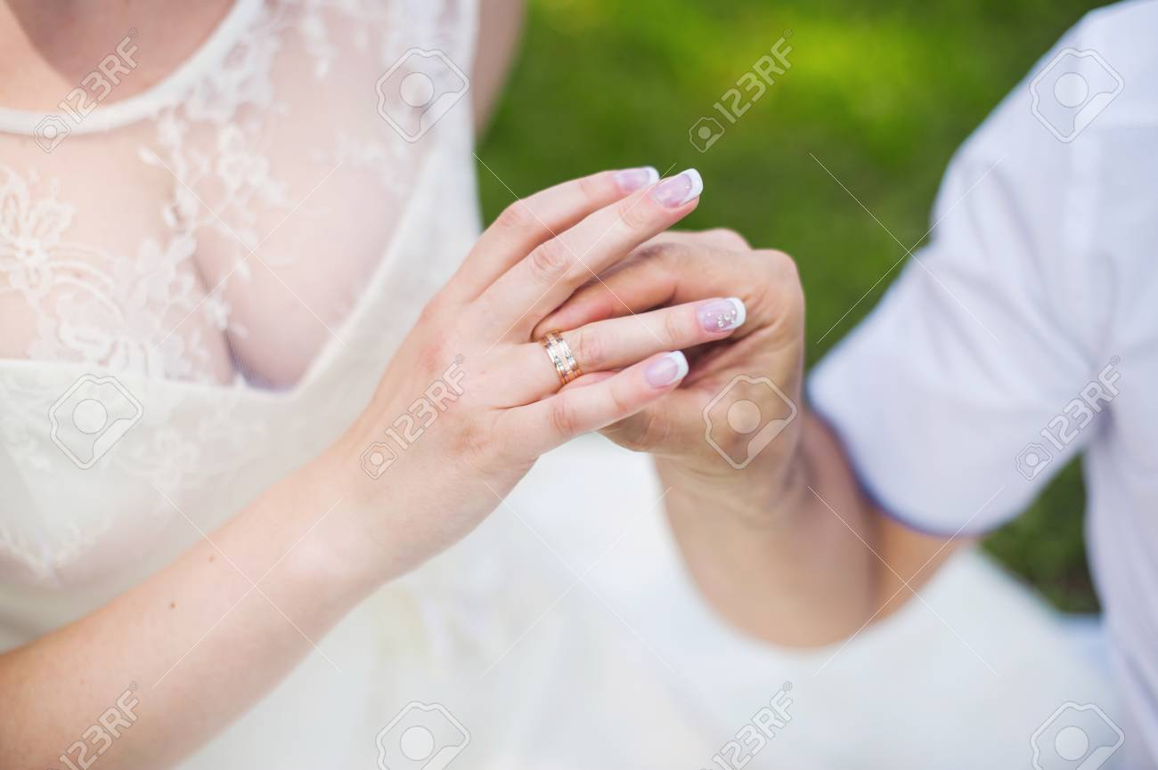 Wedding Ring Hand Stock Photo, Picture And Royalty Free Image. Image ...