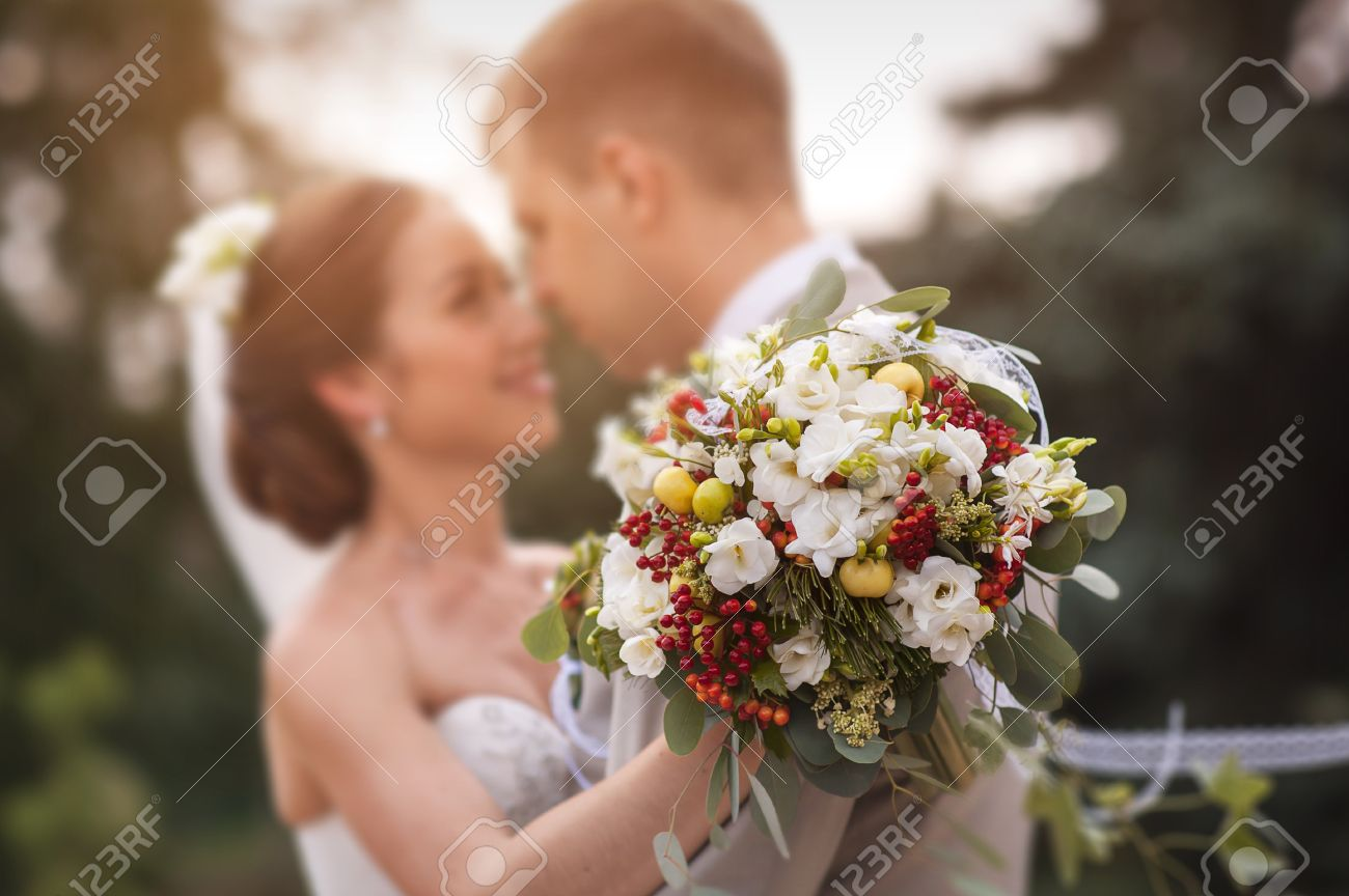 Groom and bride together. Wedding couple. Stock Photo - 40820528