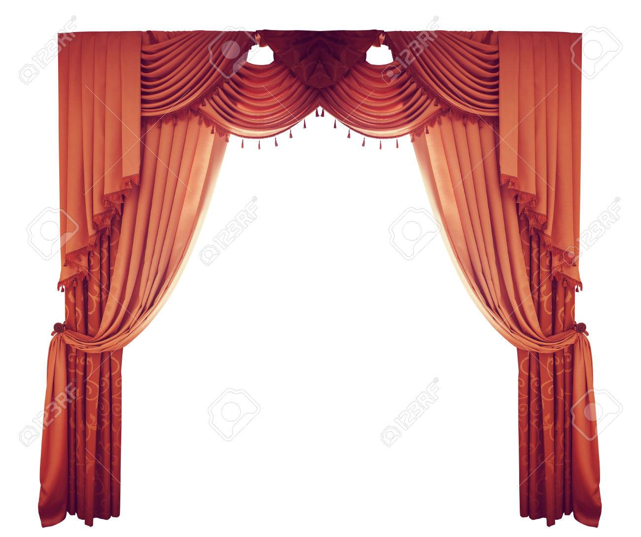 Royalty free or white curtain background drapes royalty free stock - Red Curtains On A White Background Stock Photo 41354874