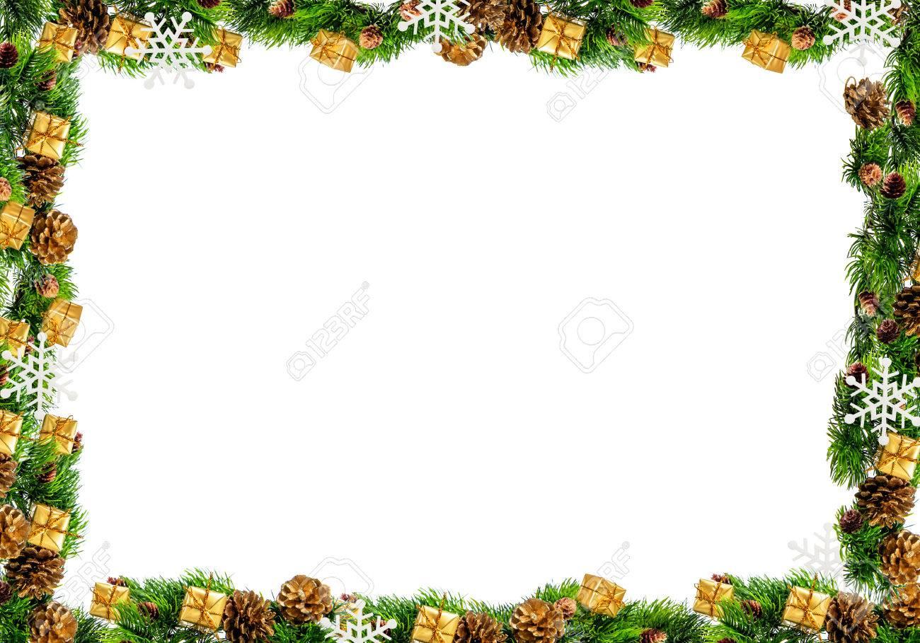 Weihnachten Rahmen Auf Einem Weißen Hintergrund. Lizenzfreie Fotos ...