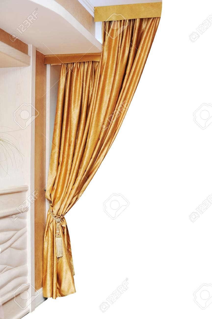 or rideau isolé sur fond blanc. banque d'images et photos libres de