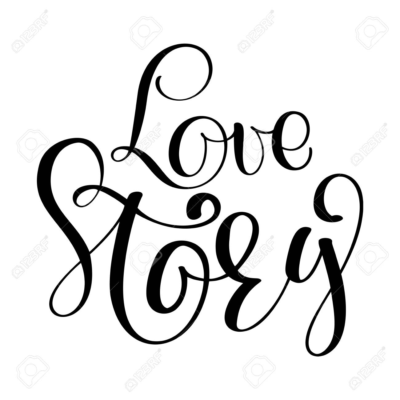 love story vector inspirational wedding quote lettering royalty free rh 123rf com wedding vector images wedding vector clip art