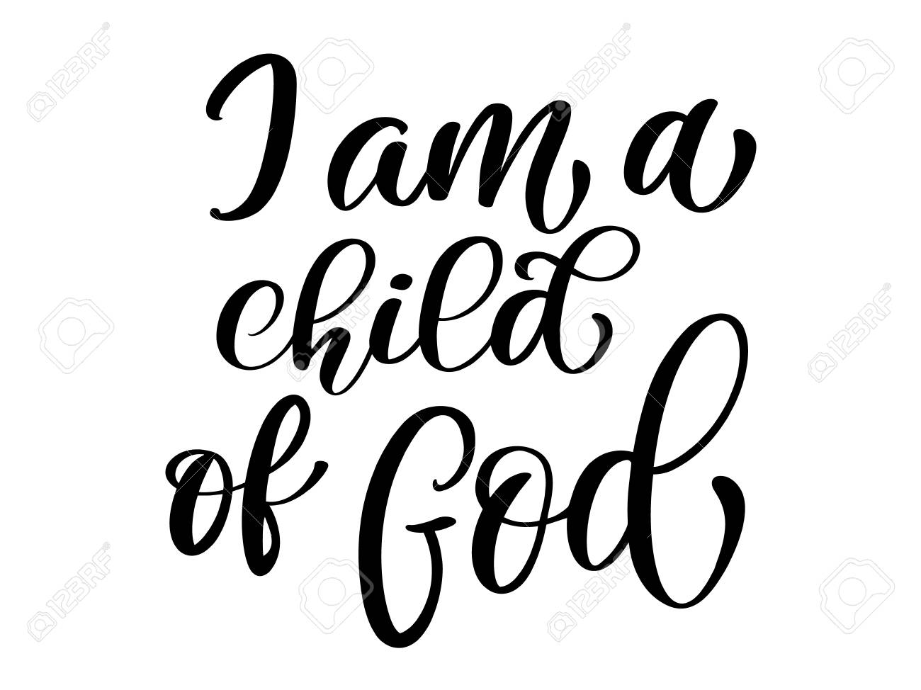 54aa43ab4 I am a child of God christian quote in Bible text, hand lettering  typography design. Vector Illustration design for holiday greeting card and  for photo ...