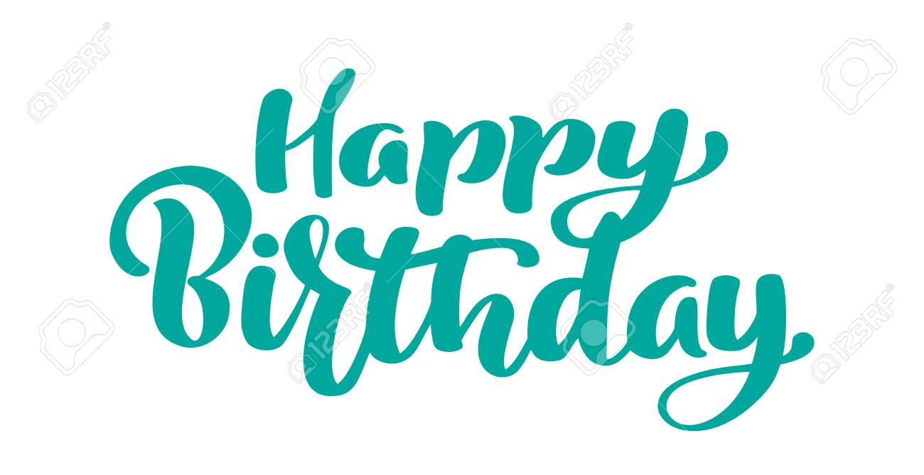 graphic regarding Happy Birthday Lettering Printables titled Delighted Birthday Hand drawn terms. Attractive hand lettering estimate,..